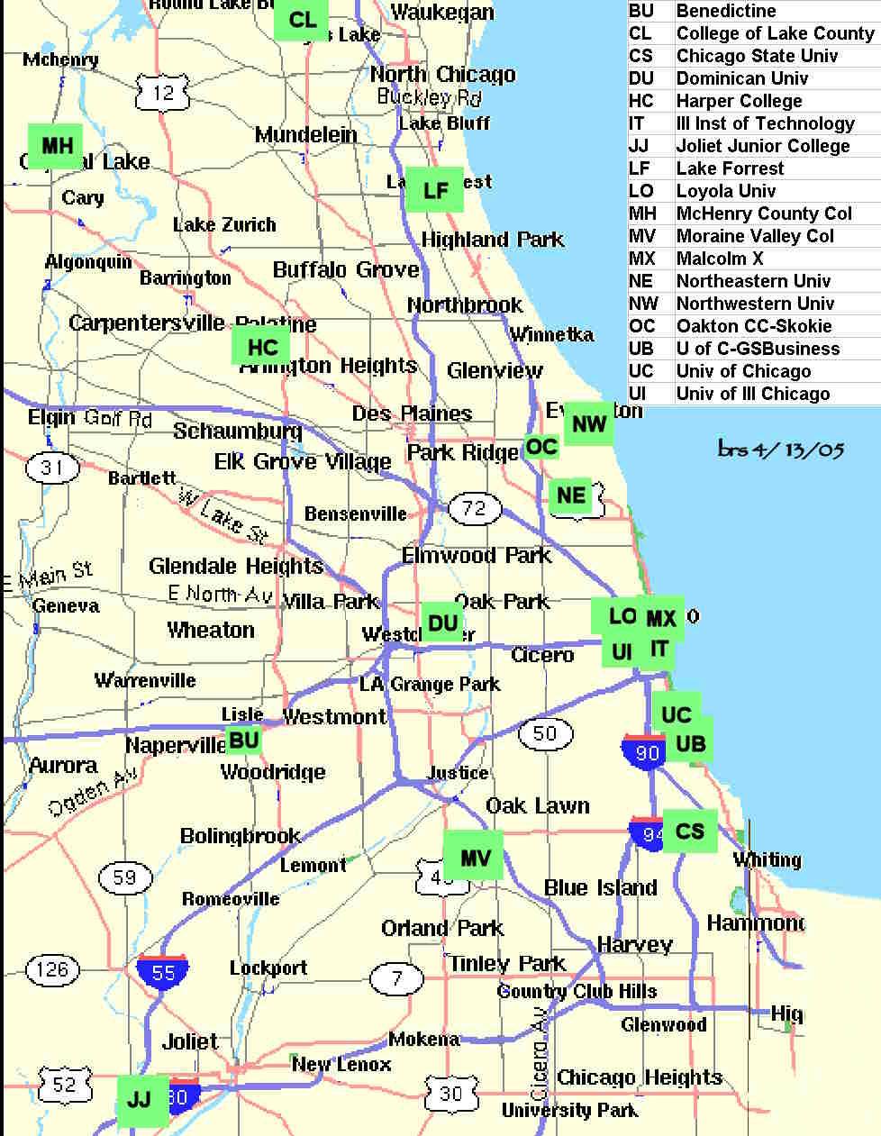 map of chicago area – bnhspine.com